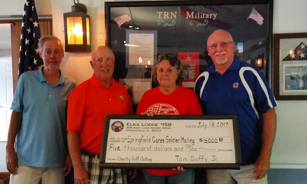 Springfield Lodge 158 Donates $5,000 to Support Veterans