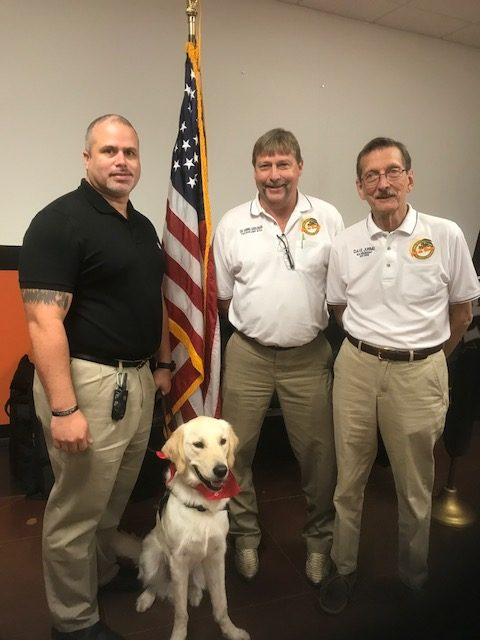Elks Present Service Dog to This Able Veteran