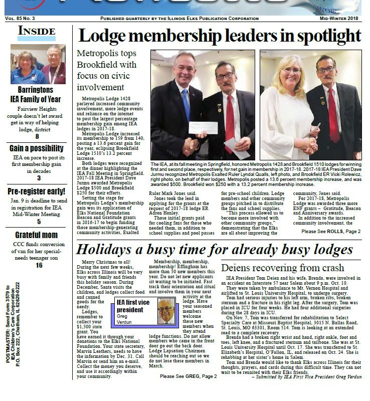 Read the 2018 Mid-Winter Newsette Today!