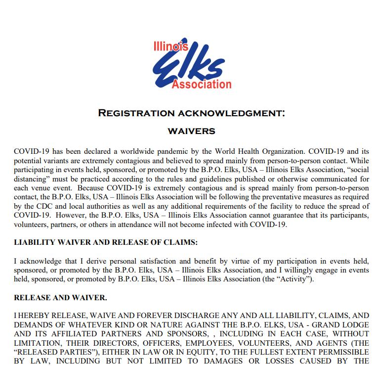 IEA January 2022 Acknowledgment Waiver